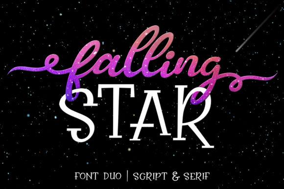 Falling Star Duo Script Font