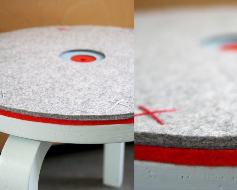 die wohngalerie filzdeckel f r einen einfachen holzstuhl. Black Bedroom Furniture Sets. Home Design Ideas