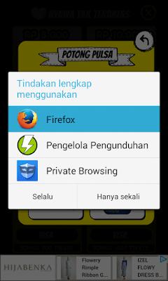 terbuka di halaman browser