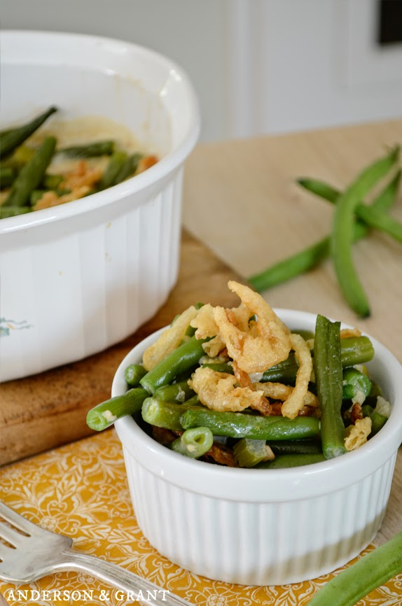 Fresh green bean casserole