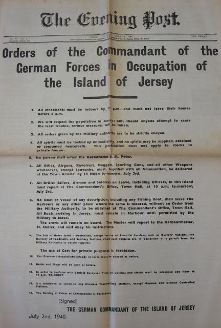 2 July 1940 worldwartwo.filminspector.com German Orders Channel Islands Jersey