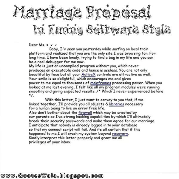 Quotes About Proposal Marriage | Daily Quotes at QuotesWala