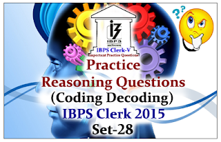 Practice Reasoning Questions (Coding Decoding)