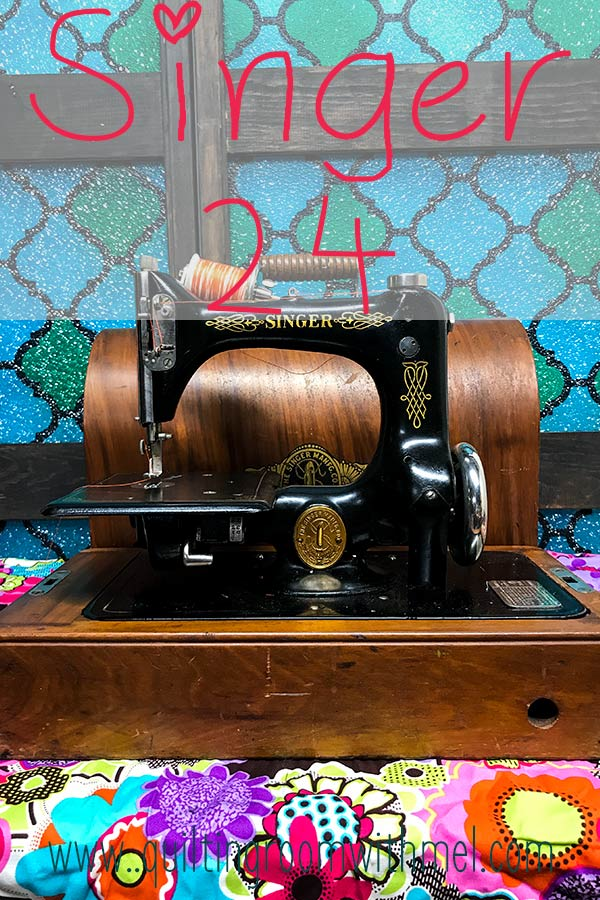 Learn more about the Singer 24 chainstitch sewing machine including how we got ours