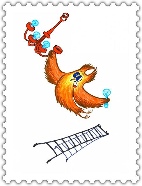 Красивые открытки бесплатно для вас / Beautiful postcards are free for you, p_i_r_a_n_y_a - Сова Ульяна вкручивает лампочку