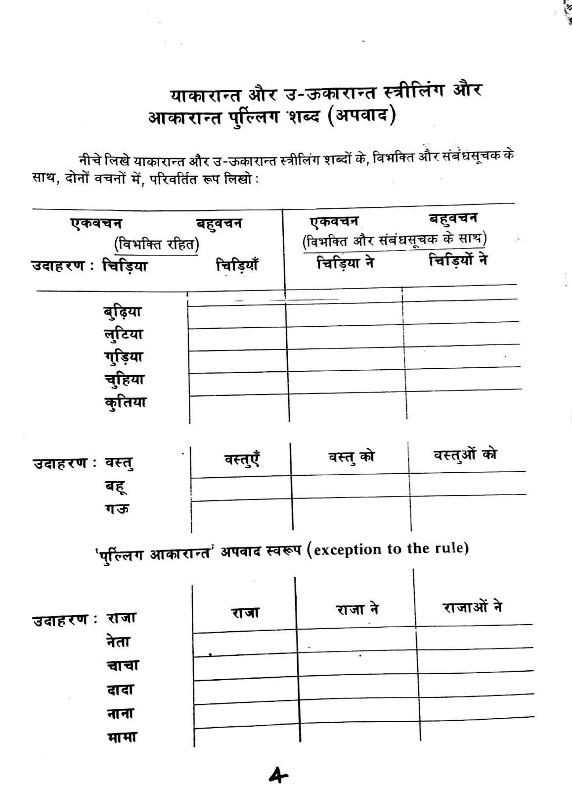 Hindi Worksheets For Grade 5