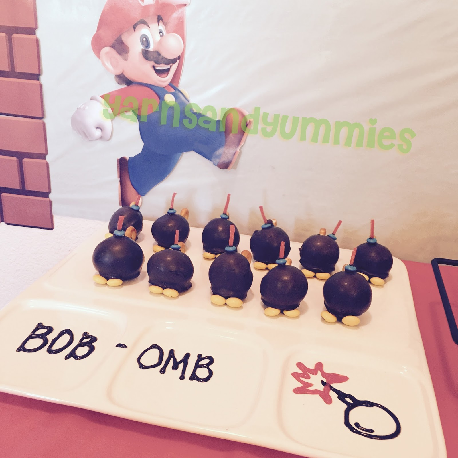 Yarns And Yummies Super Mario Bros Bob Omb Cake Pops