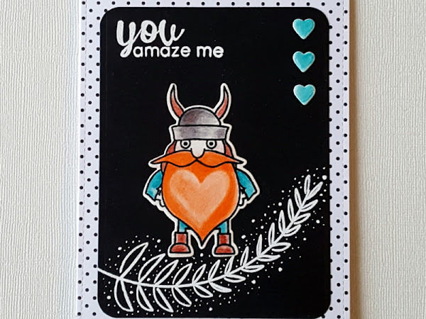 Avery Elle + Altenew: Viking Amaze Card
