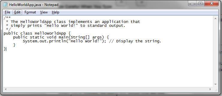 Java First Hello World Program