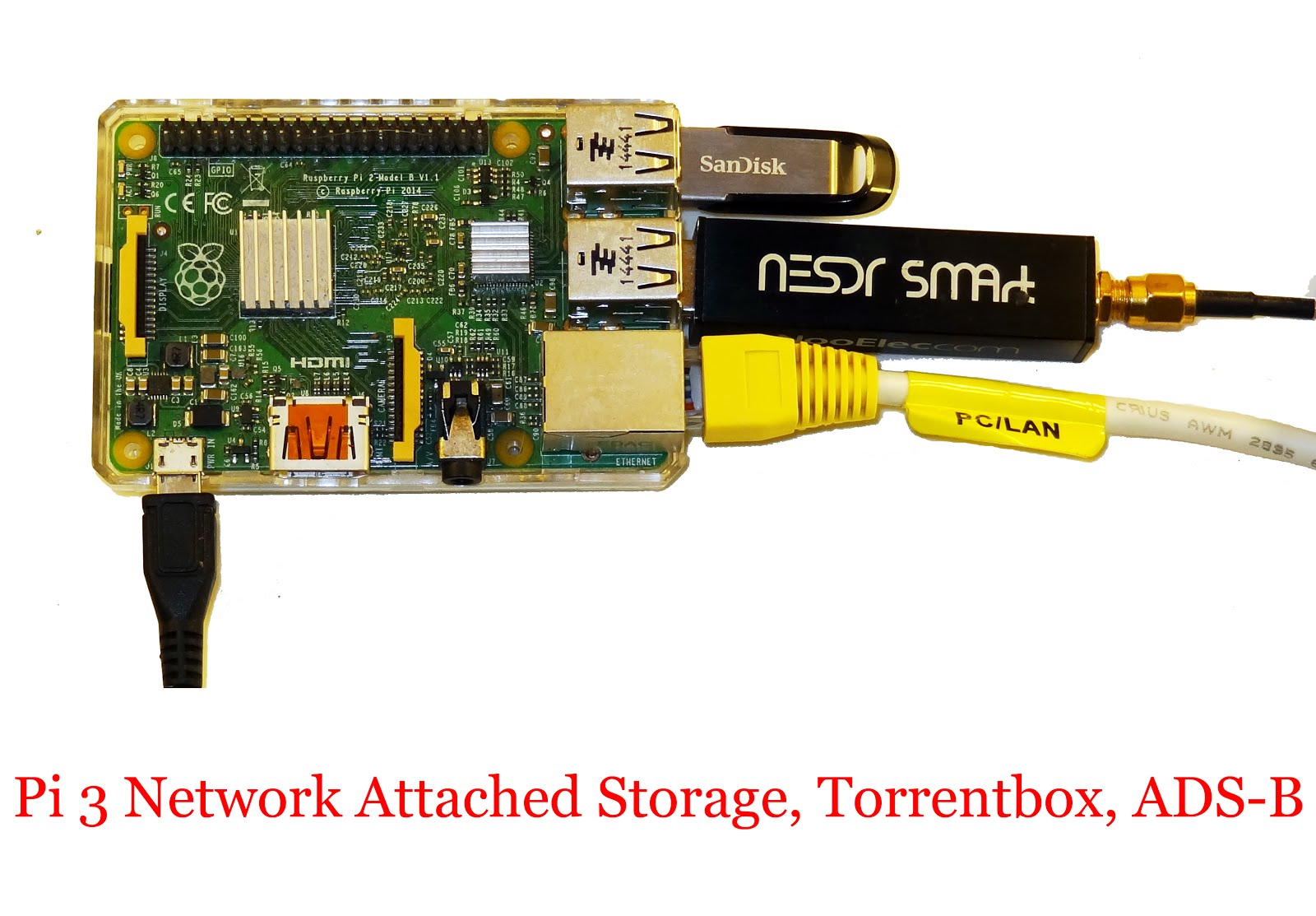 Pi 3 Network Attached Storage, Torrentbox, ADS-B server | Radio for