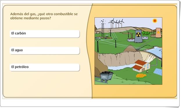 """""""Las fuentes de energía más utilizadas"""" (Actividad interactiva de Ciencias Naturales de Primaria)"""