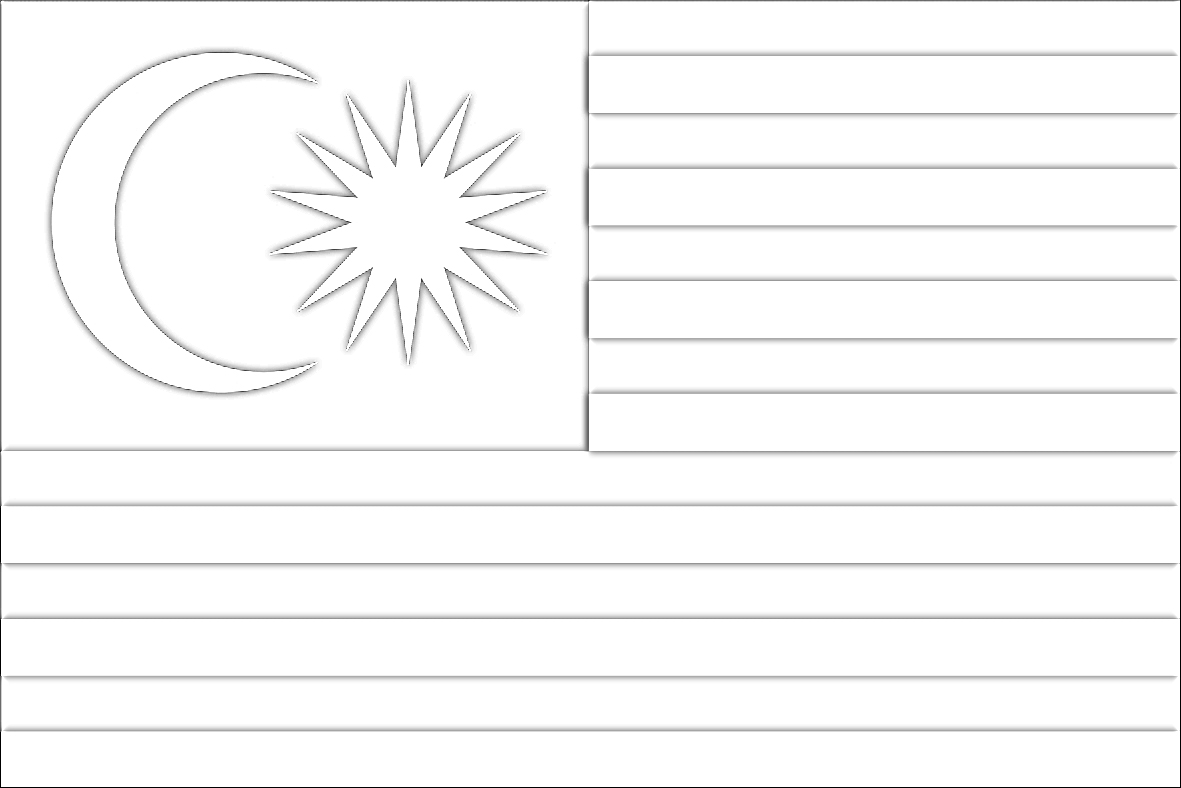 Lukisan Gambar Bendera Malaysia Untuk Mewarna