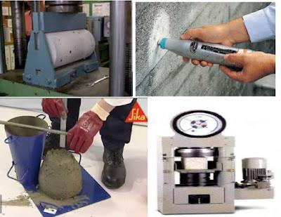 إختبارات الخرسانة | الإختبارات الحقلية والمعملية للخرسانة | شرح + تحميل pdf