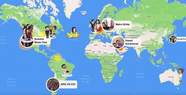 Snap Map - Snapchat