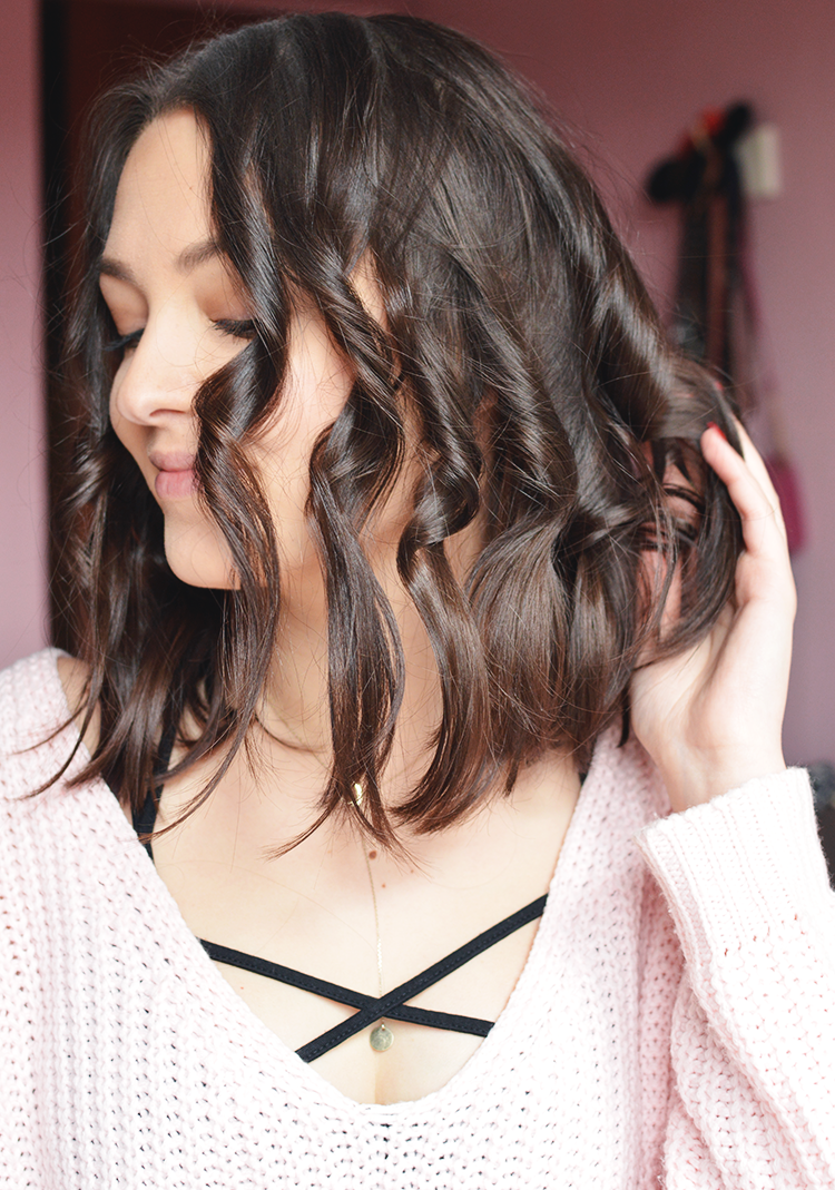 messy waves long bob