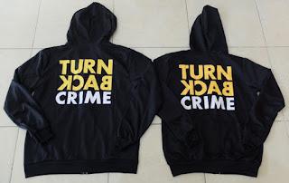 Jual Online Jacket Couple Turn Back Crime Hitam Jakarta Bahan babytery Terbaru