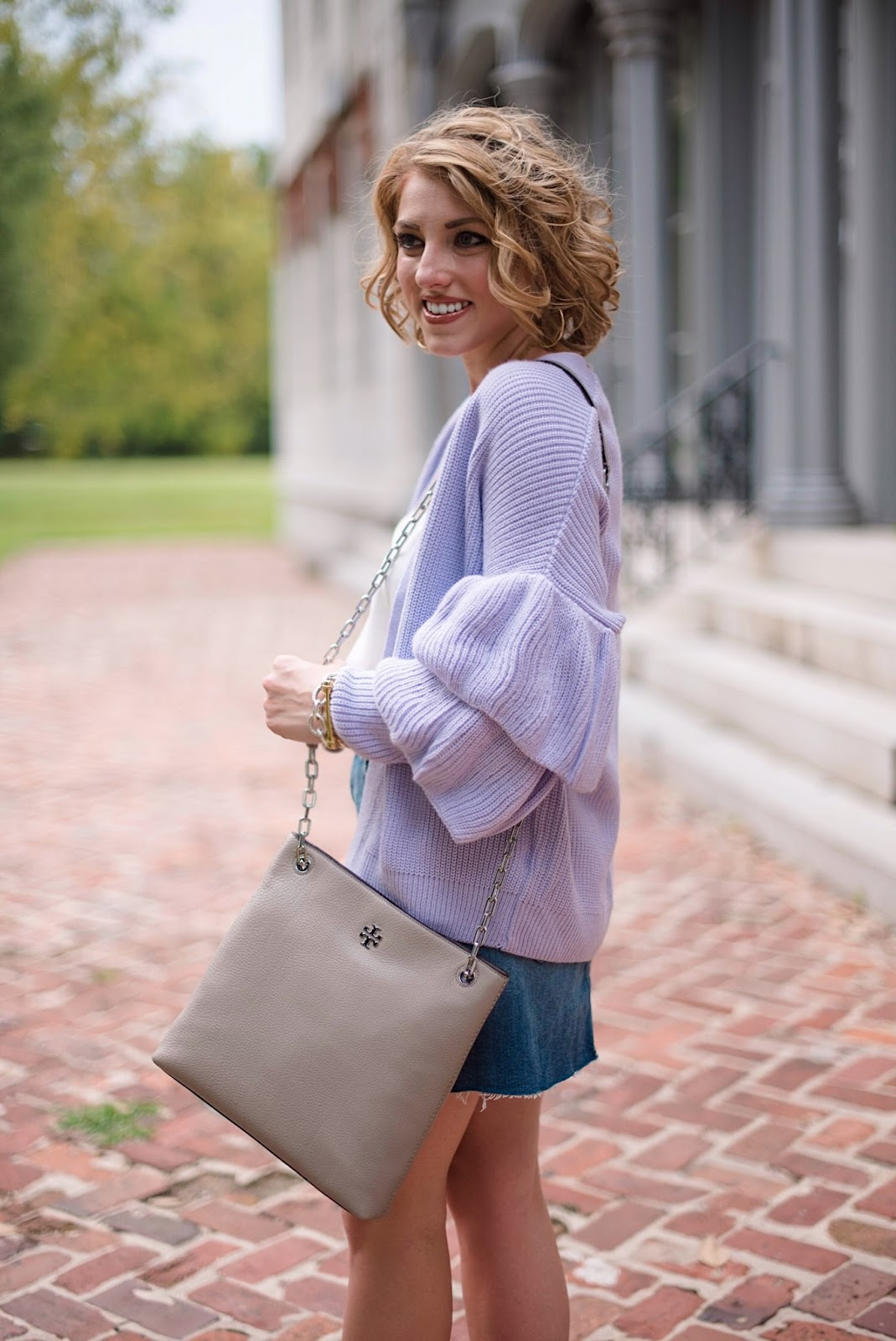 Ruffle Sleeve Cardigan - Something Delightful Blog (click through for the full post)