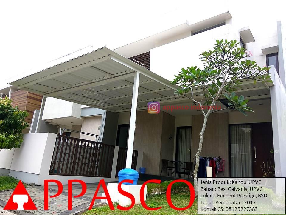 Kanopi UPVC Modern Besi Galvanis di BSD Tangerang