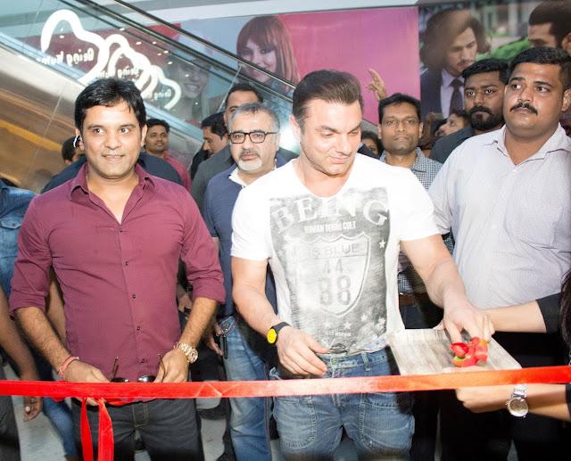 Mr.Manish Mandhana with Sohail Khan at the opening of Being Human Store in Navi Mumbai