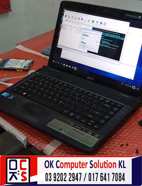 [SOLVED] BACKUP&FORMAT ACER ASPIRE 4740 | REPAIR LAPTOP AMPANG 3