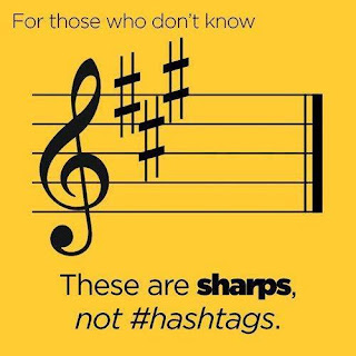 for those who don't know these are sharps, not #hashtags