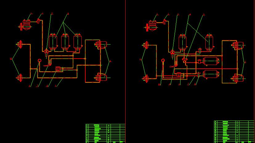 sơ đồ bố trí phanh khí xe tải