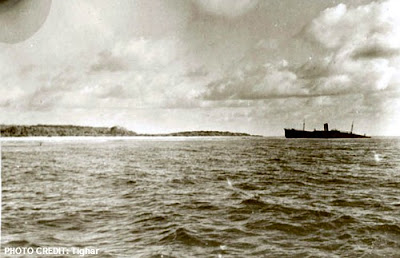 West End of Nikumaroro Island Shot by British Colonial Service officer Eric R. Bevington - Oct 1937