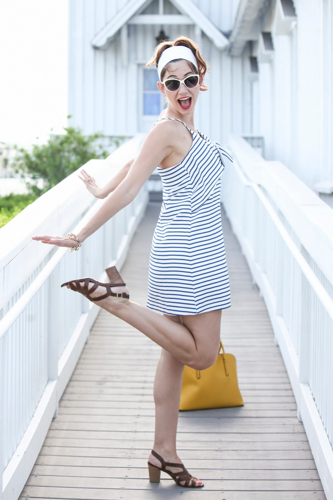 Nautical Stripes are in for the summer in this Maeve Dress