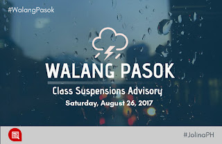 Class Suspensions Saturday August 26 2017
