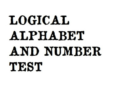 Alphabet and Number Sequence Test - Logical Reasoning Question and Answers