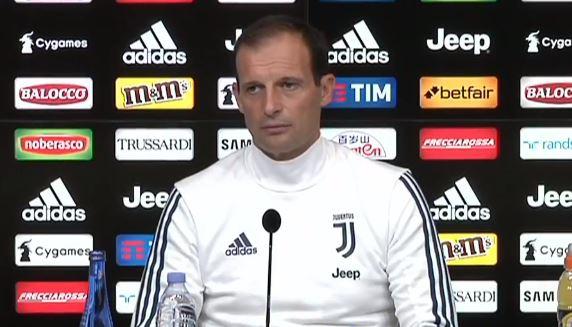 La conferenza stampa di Massimiliano Allegri alla vigilia di Juventus Lazio