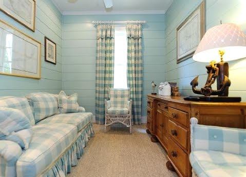 aqua blue walls
