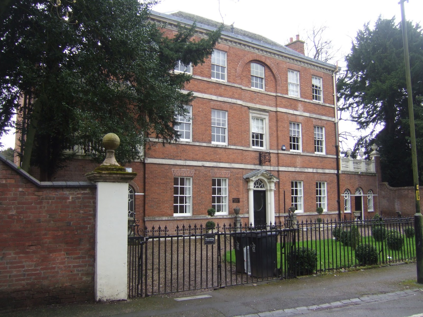 belgrave house because the hall has its best side facing away from church road