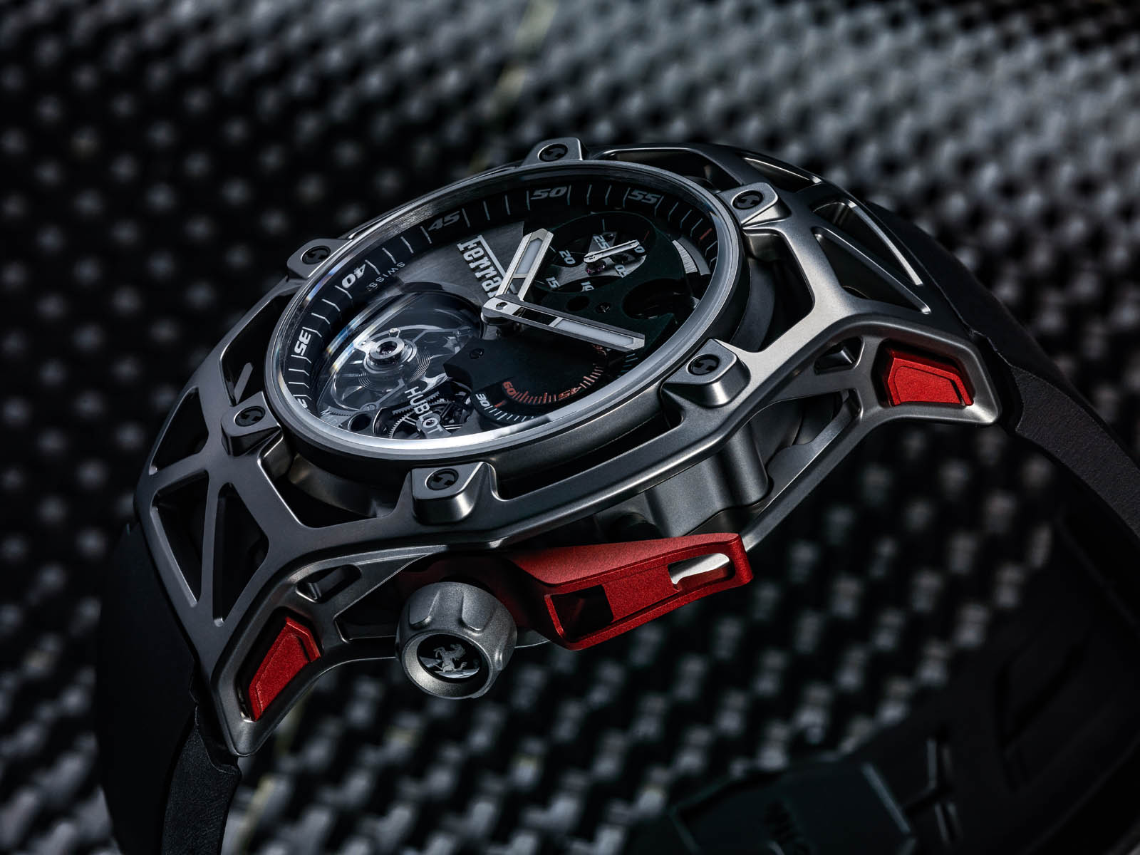 hublot 39 s new tourbillon chronograph is a ferrari for your wrist. Black Bedroom Furniture Sets. Home Design Ideas