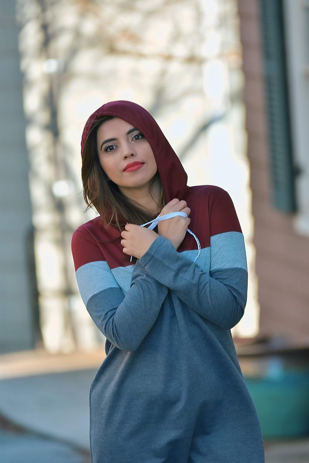 Color Block Split Side Tee Dress-MariEstilo-SheIn-Look of the day-fashionblogger-dcblogger-winter style-sporty dress-blogger style-traveller-