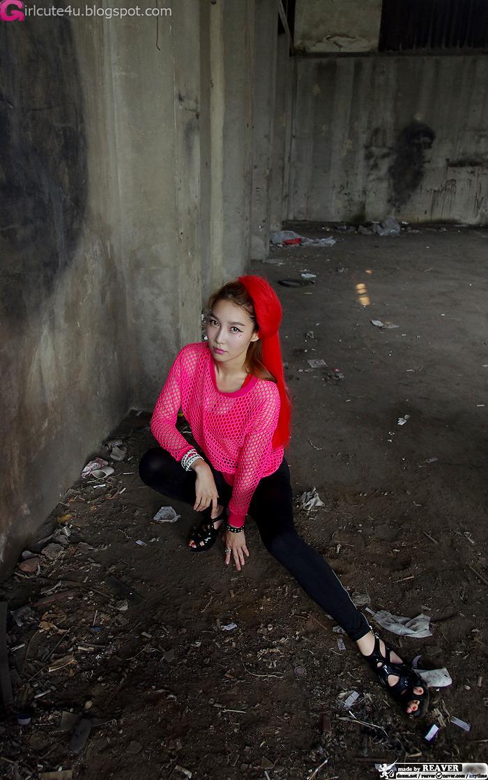 xxx nude girls: Go Jung Ah in Red