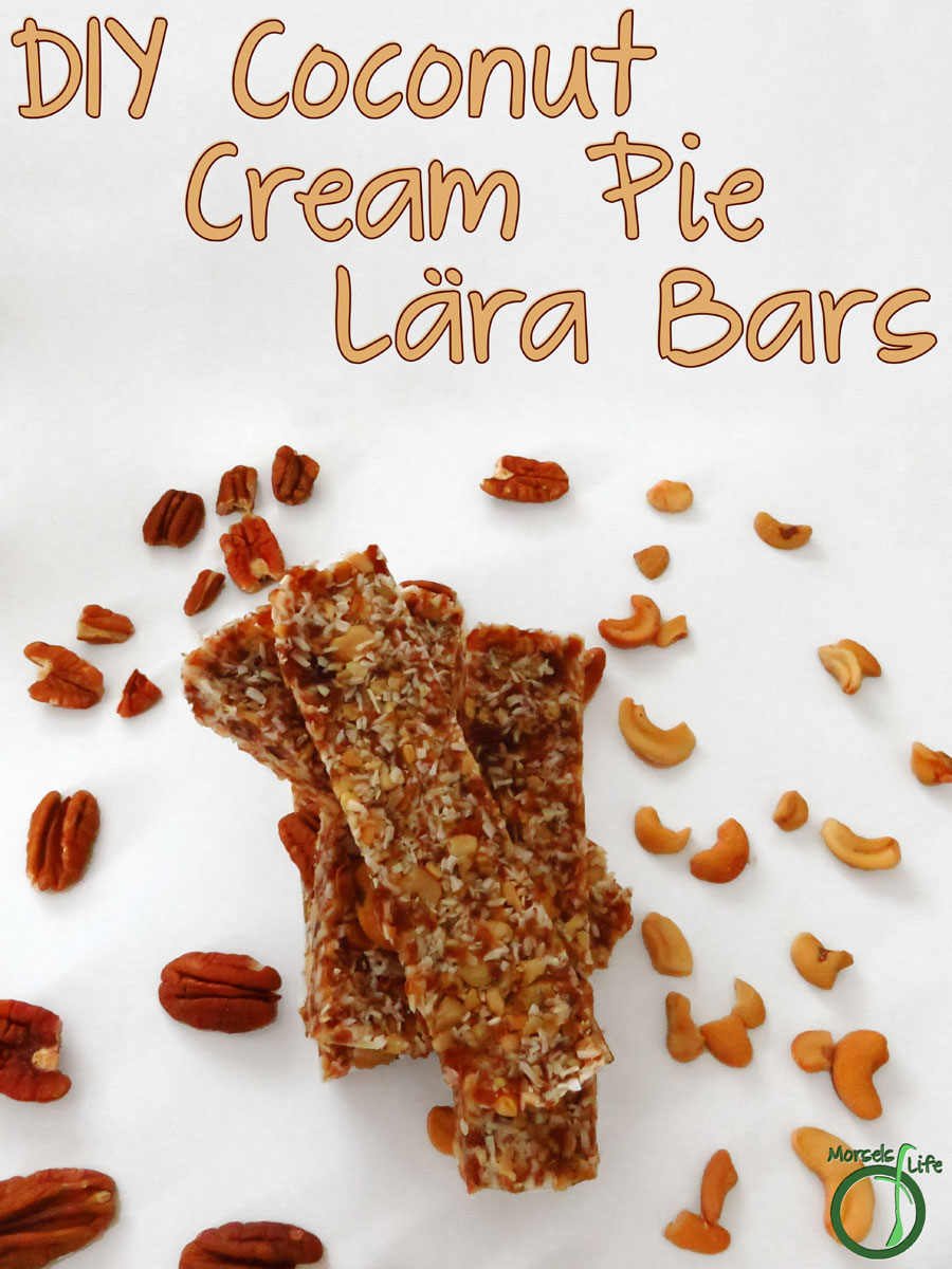 Morsels of Life - DIY Coconut Cream Pie Lara Bars - An energy bar perfect for any coconut lover - try this DIY Coconut Cream Pie Lara Bar!