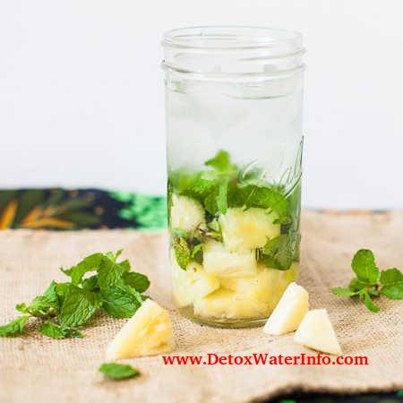 Pineapple infused mint water recipe