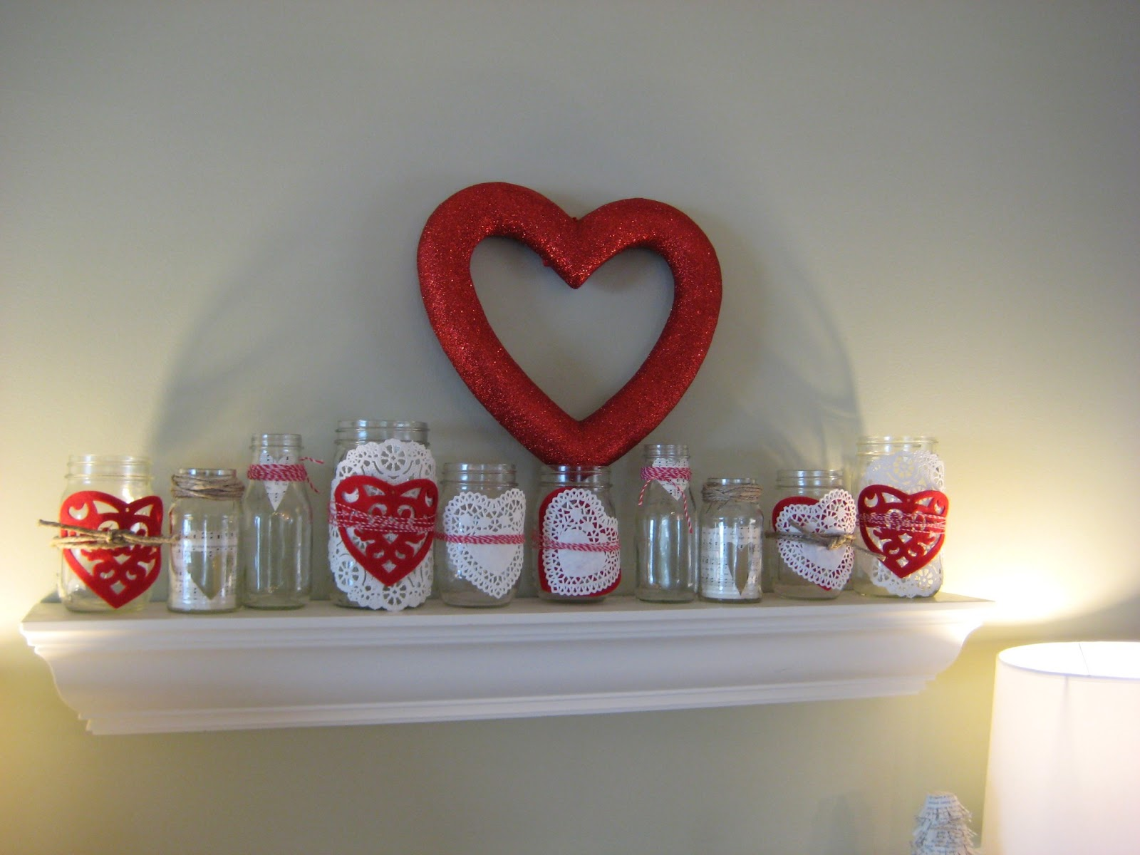 leaf and letter handmade: heart decorations!