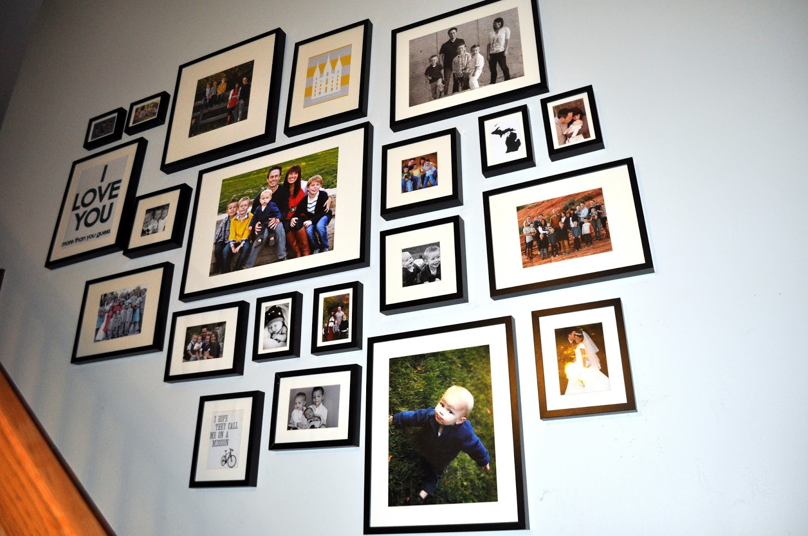 Using Family Photos: Stairway Gallery Wall – Brooke Romney