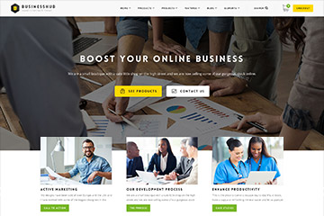 Business Hub | Responsive WordPress Theme