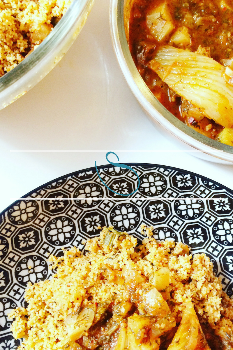#Vegetarian Tunisian couscous from the Sahel of Tunisia | Couscous Végétarien du Sahel Tunisien | Farfoucha