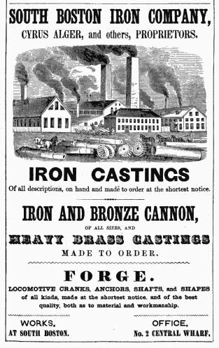 Old Ads Are Funny 1850 ad South Boston Iron Company