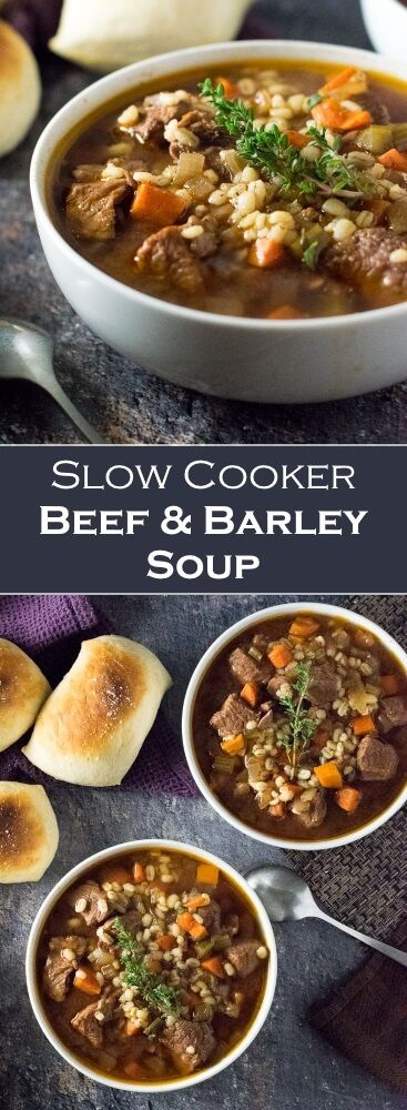 SLOW COOKER BEEF AND BARLEY SOUP RECIPES