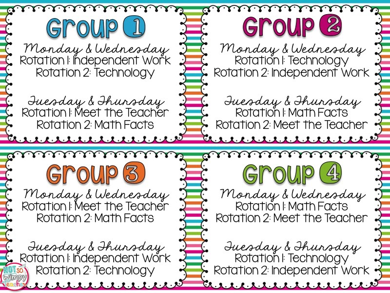Diary Of A Not So Wimpy Teacher Easy To Manage Math Centers