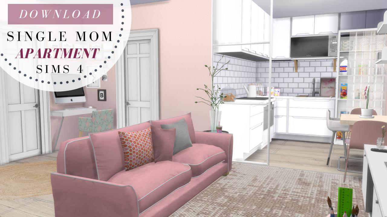Single Mom Apartment Renovation Tour Cc Creators The Sims 4