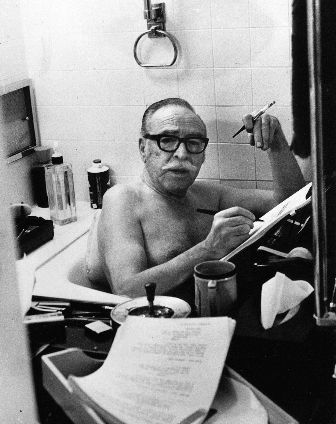 Cryptomnesia: The Physical Writing Process: Dalton Trumbo - Writing in the  Bathtub & the Duality of Screenwriter-Novelist