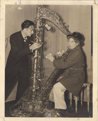Salvador Dalí y Harpo Marx