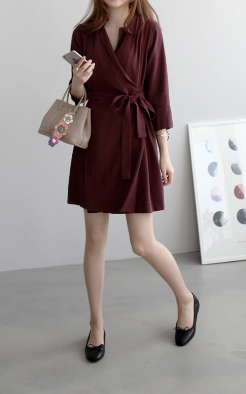 Lapel Wrap Dress