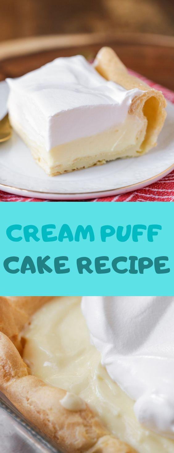 CREAM PUFF CAKE RECIPE #Dessert #Creampuff #Cake